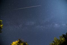 Perseid meteor shower. Watched tonight.  :)