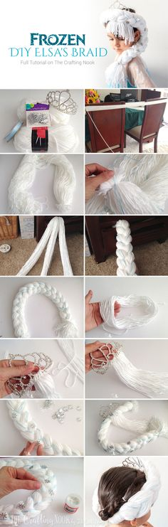 Enjoy and let your girl live the dream of becoming Elsa with this cute and easy Frozen DIY Elsa's Braid #frozen #frozenfever #frozenparty