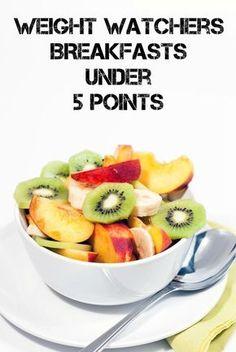Weight Watchers Breakfast Under 5 Points | http://just2sisters.com/weight-watchers-breakfast-under-5-points/