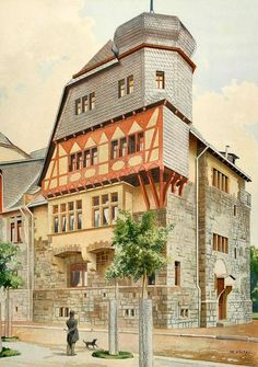 Karl Stief, Karlsruhe, Germany (1903 Chromolithograph)