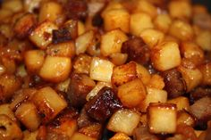 Swedish hash - Pytt i panna      A traditional Pytt i panna consist of three main ingredients: diced potatoes, caramelized onions and diced beef. It is traditionally served with raw egg yolk/fried egg and pickled beets.