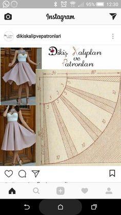 Do You Aggree Such Beautiful Skirt Patterns Sewing, Clothing Patterns, Diy Clothing, Sewing Clothes, Fashion Sewing, Diy Fashion, Pola Rok, Sewing Circles, Pattern Drafting