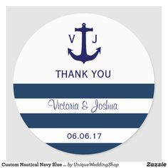 Favor Stickers Custom Nautical Wedding Stickers for Favors Envelope Seals Modern Wedding Anchor Stickers Nautical Monogram Wedding Label Personalized Stickers F1:15