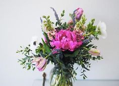 peonies, tulips and anemones
