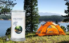 Let's Go Camping Ring Candle