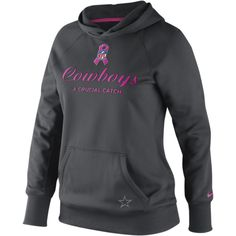 Nike All-Time NFL Dallas Cowboys BCA Women's Hoody - Anthracite, XXL ($60) ❤ liked on Polyvore