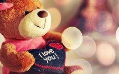 i Love You Teddy Bear HD Wallpaper
