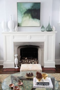 fireplace mantel/focal point..art form...holding other art forms ...wonderful