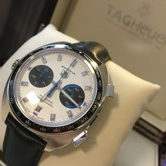 #CollectorsCorner Raw Tag Heuer styling, check out the remodelled Autavia