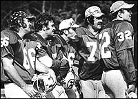 Washington Redskins over the hill gang | in with the old the original over the hill gang from left mo pottios ...