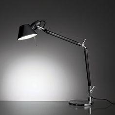 Modern Desk Lamps/Tolomeo Mini Table Lamp from Artemide Lighting Home Lighting Design, Modern Lighting, Desk Light, Lamp Light, Small Desk Lamp, A Table, Table Lamp, Italian Lighting, Black