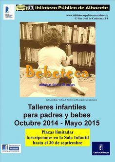 #actividadesbiblioteca #bebeteca Para los más pequeños...¡la Bebeteca! Abierto el plazo de inscripción para la Bebeteca, un espacio para leer el mundo antes de aprender a leer en los libros. Un taller semanal para los bebés entre los 9 y 36 meses en los que se acerca al niño/a al libro como objeto de disfrute e información. Libros para oír, mirar, descubrir, escuchar… Más información: http://www.bibliotecaspublicas.es/albacete/imagenes/triptico_bebeteca_septiembre_2014_(Solo_lectura).pdf