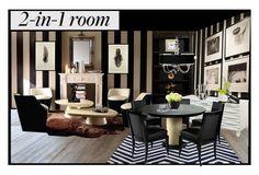 """2N1 Room"" by stacyapark ❤ liked on Polyvore featuring interior, interiors, interior design, home, home decor, interior decorating, Ethan Allen, Marimekko, Sunpan and LSA International"