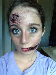 Awesome zombie makeup by @Emily Halper Bingham
