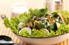Receita de Salada de Espinafres e Cenouras