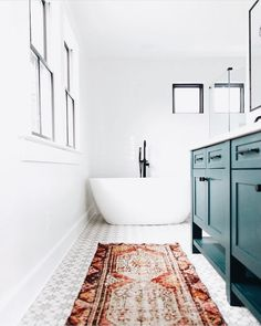 bright and eclectic bathroom design