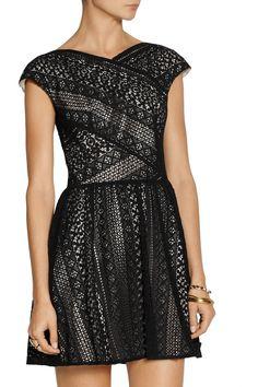 LoverPyramid cotton-blend lace dressfront
