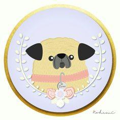 Mi Dona #ilustracion #pug #dog. #perro #desing #vector