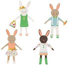 Bunny Paper Dolls Kit