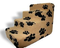 Best Pet Supplies 4-Step Pet Stairs, 24 by 15 by 19-Inch, Black Paw on Beige Suede Best Pet Supplies, Inc. http://www.amazon.com/dp/B0024MMAGY/ref=cm_sw_r_pi_dp_Z2u5tb0F0SZXQ