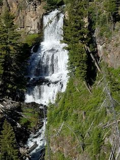 Undine Falls in Yellowstone National Park. T ook this picture myself.