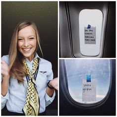 A flight attendant began sharing 'pick-me-up' notes with passengers to spread kindness. It works.