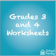 Dozens of worksheets to helps students in Grades 3 and 4 sharpen their skills.