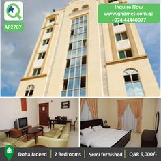 Apartment For Rent In Qatar: Semi Furnished 2 Bedrooms Apartment In Doha  Jadeed At QAR.
