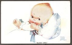 "1926 Mabel Lucie Attwell Valentine's No. 1091 - Young Baby -  ""Bless Ums!"" uk.picclick.com"