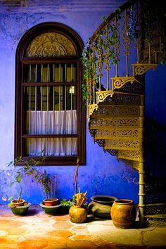 Window and stairs - colors are breathtaking!