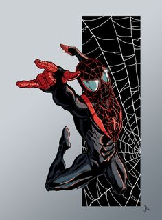 Ultimate #Spiderman #Miles #Morales #Fan #Art. (Ultimate Spiderman colors) By: BDixonarts. (THE * 5 * STÅR * ÅWARD * OF: * AW YEAH, IT'S MAJOR ÅWESOMENESS!!!™)[THANK Ü 4 PINNING<·><]<©>ÅÅÅ+(OB4E)
