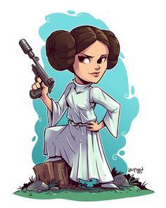 Princess Leia - by Derek Laufman