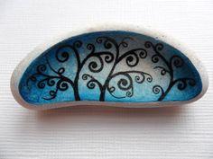 Miniature art on scottish sea pottery  by Alienstoatdesigns, £9.00
