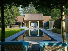 Love this pool and garden
