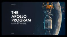 Made for the anniversary of the Apollo 11 landing, this is a very quick look at all the other Apollo missions that led up to and went beyond the first s. Apollo 11 Landing, Apollo Program, Apollo Missions, Indian Gods, Motion Design, 50th Anniversary, Programming, Illustrator, Adobe