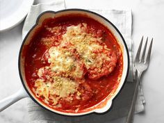 Skillet Chicken Parmesan recipe from Food Network Kitchen via Food Network