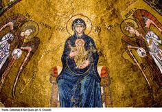 La Vergine in trono fra gli Arcangeli Michele e Raffaele (XI-XII sec.) - Cattedrale San Giusto, Trieste