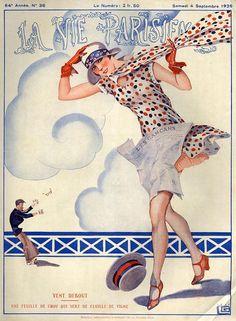 Illustration by George Leonnec For La Vie Parisienne September 1926
