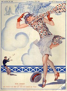 Illustration by George Leonnec For La Vie Parisienne September 1926