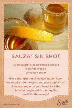 Sauza® Sin Shot #sauza #recipes #tequila
