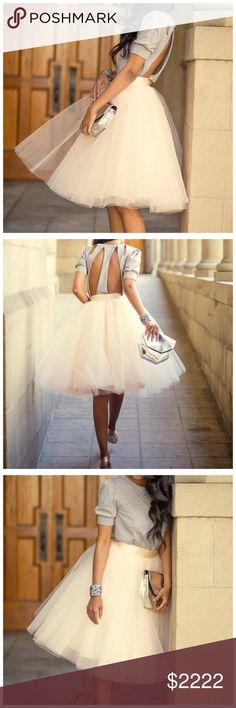 COMING SOON Ivory Full Tulle Midi Skirt ‼️‼️ COMING SOON ‼️‼️ Please like this listing to be notified when they arrive! Skirts Midi