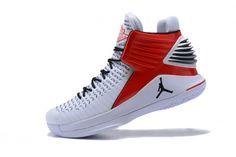 c7e24eb87b23 New Air Jordan 32 White Red Black Mens Basketball Shoes For Sale -  ishoesdesign Balenciaga Shoes