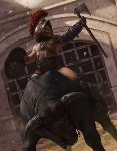 Gladiator by Ilker Serdar Yildiz   Illustration   2D   CGSociety