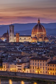Twilight over the Duomo, Florence, Tuscany, Italy. © Brian Jannsen Photography