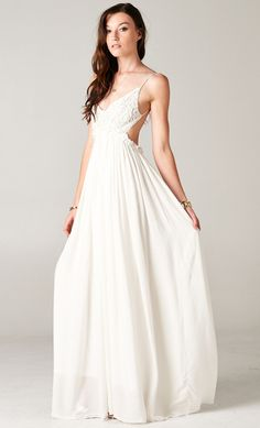 BLOSSOMING CROCHETED FRONT BACKLESS MAXI DRESS
