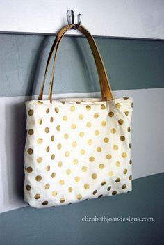 DIY Reversible Tote Bag.