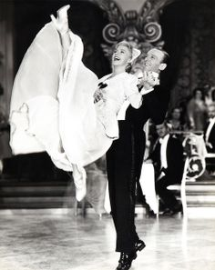 """Ginger Rogers and Fred Astaire in """"The Story of Vernon and Irene Castle"""" - 1939"""