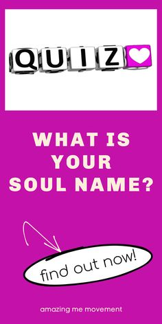 Take this beautiful and intriguing personality test to find out what your soul name is. quiz posts|quizzes|fun quizzes|personality tests|playbuzz quizzes|buzzfeed quizzes|quizzes for fun|quiz questions and answers|personality quizzes|quizzes about yourself