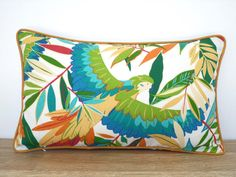 Palm leaf outdoor cushion cover 20x12 , tropical outdoor pillow case for patio furniture, small outside lumbar pillow for lounge chair by anitascasa. Explore more products on http://anitascasa.etsy.com