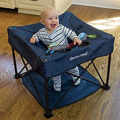 ♥ this! Portable way to keep you baby safe when you are out and about. Great for summer concerts, the beach, older kid's practices, or just hanging out at a friends house!!